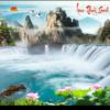 Tranh đính đá LV145 Lưu thủy sinh tài 150x80