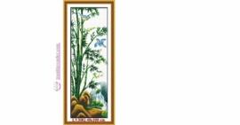 Tranh thêu chữ thập Lavender LV3002 Tứ quý Xuân Hạ Thu Đông - cây Trúc 40x100 cm40x100