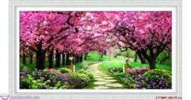 Tranh thêu chữ thập Lavender LV3005 Con đường tình yêu 100x55