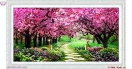 Tranh thêu chữ thập Lavender LV3006 Con đường tình yêu 132x62