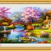 Tranh thêu chữ thập Lavender LV3014 Mùa xuân ấm áp 180x90