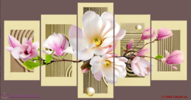 Tranh thêu chữ thập Lavender LV3018 Ngọc lan khoe sắc 120x58