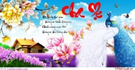 Tranh thêu chữ thập Lavender LV3057 Cha mẹ 91x50