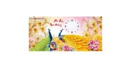 Tranh thêu chữ thập Lavender LV3163 Đồng hồ Phú quý mãn đường 74x39