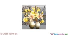 Tranh đính đá Ngọc Lan phú quý LV306 Lavender 45x45