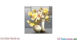Tranh đính đá Ngọc Lan phú quý LV308 Lavender 45x45