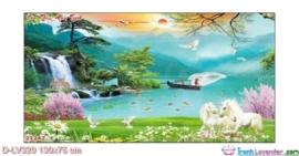 Tranh đính đá Sơn thủy hữu tình LV320 Lavender 130x75