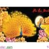 [T-LV3101] Tranh thêu chữ thập Phú Quý Bình An (kích thước nhỏ 89x43cm)