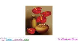 [T-LV3280] Tranh thêu chữ thập Bình hoa nghệ thuật (kích thước nhỏ 48x70cm)