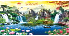 Tranh thêu chữ thập Lưu Thủy Sinh Tài ❤️ [T-LV3304]