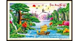 Tranh đính đá Thuận Buồm Xuôi Gió (khổ nhỏ) ✅85x50 cm -️ VS034