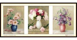 Tranh đính đá Vũ điệu các loài hoa (khổ lớn) ✅140x62 cm -️ VS236