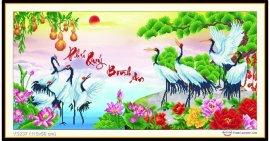 Tranh đính đá Phú Quý Bình An (khổ trung bình) ✅115x56 cm -️ VS237